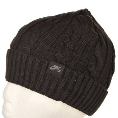 Nike SB Cable Knit Beanie Black - Beanies from Native Skate Store UK 38352246b30