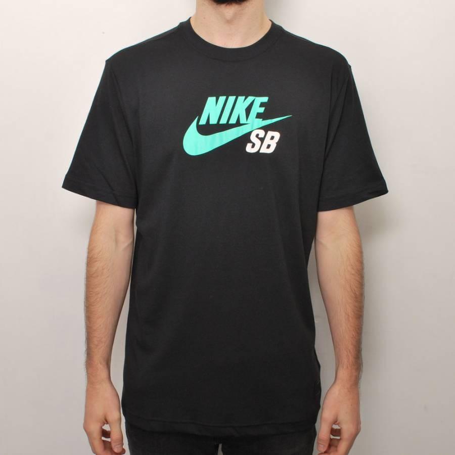 Nike sb nike sb icon skate t shirt black ice nike sb for Nike sb galaxy shirt