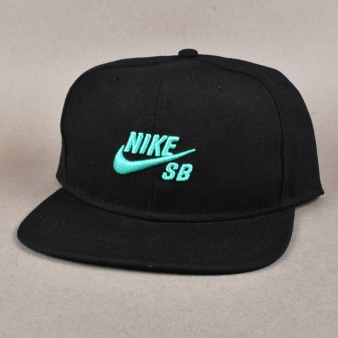 Nike SB Icon Snapback Cap - Black Crystal Mint - Caps from Native ... 7e6bb6ff2a7