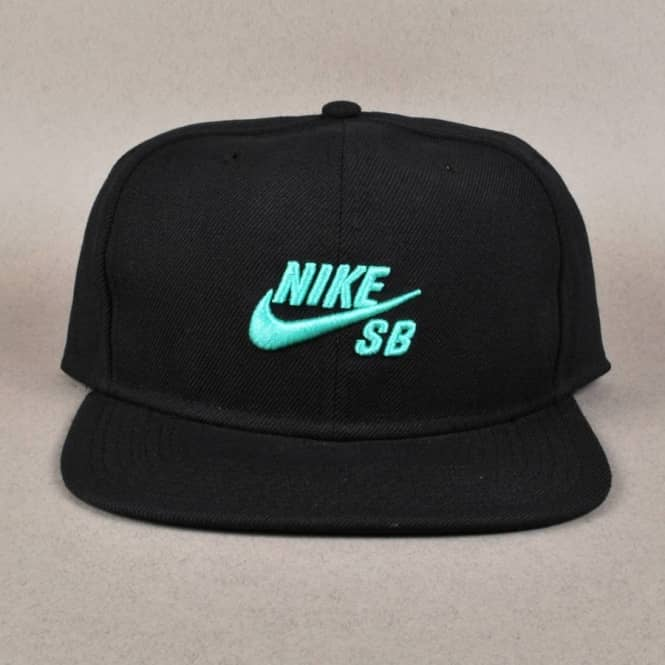 Nike SB Icon Snapback Cap - Black Crystal Mint - Caps from Native ... 34fd901947f