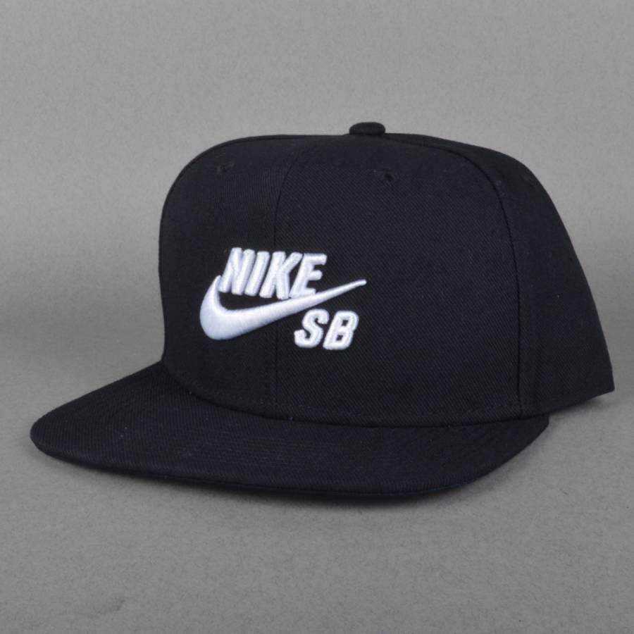 nike sb nike sb icon snapback cap black nike sb from. Black Bedroom Furniture Sets. Home Design Ideas