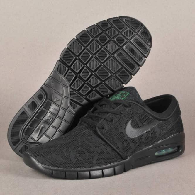 innowacyjny design wysoka jakość produkty wysokiej jakości Nike SB Nike SB Janoski Max Skate Shoes - Black/Black - Pine Green