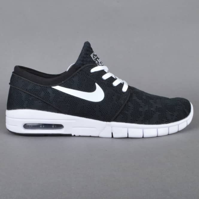 Nike SB Nike SB Janoski Max Skate Shoes - Black/White