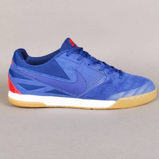 Nike SB Nike SB Lunar Gato Quikstrike Skate Shoes - Deep Royal Blue/Light Crimson-White