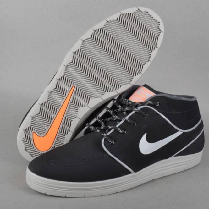 04ac8f58d2e8 Nike SB Lunar Janoski MD Shield Skate Shoes - Black  Reflective Silver -  Hyper Crimson