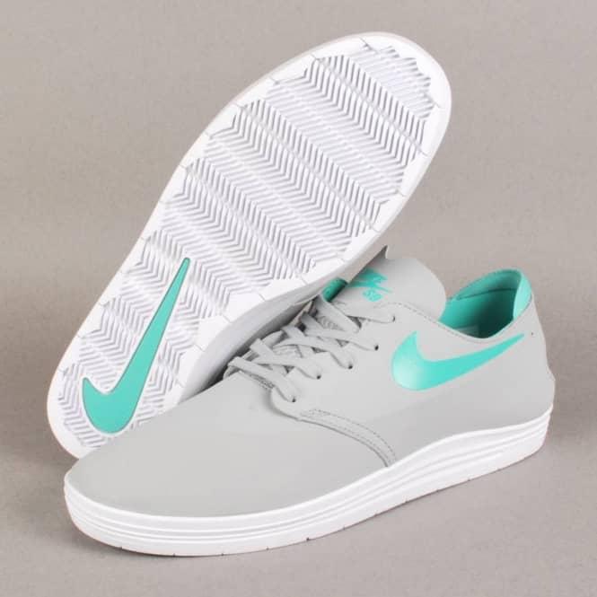 buy popular 0e6c9 2ebbc ... Nike SB Lunar One Shot Skate Shoes - Base Grey Crystal Mint ...