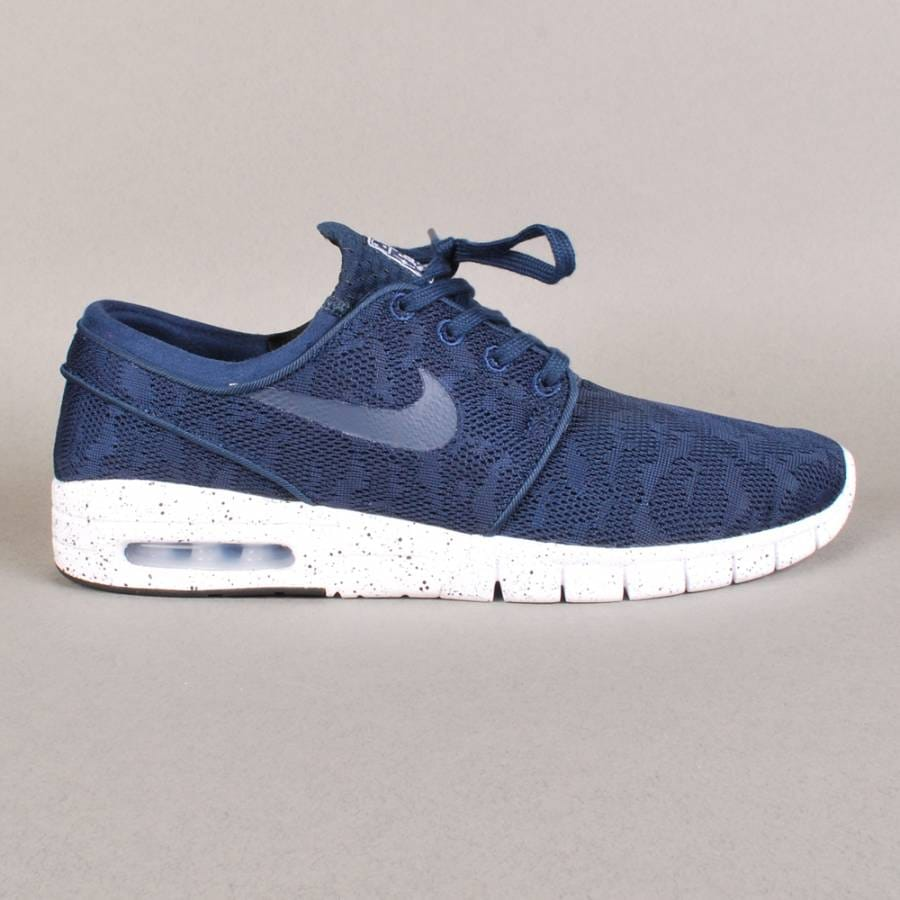 nike sb nike sb stefan janoski max skate shoes midnight. Black Bedroom Furniture Sets. Home Design Ideas