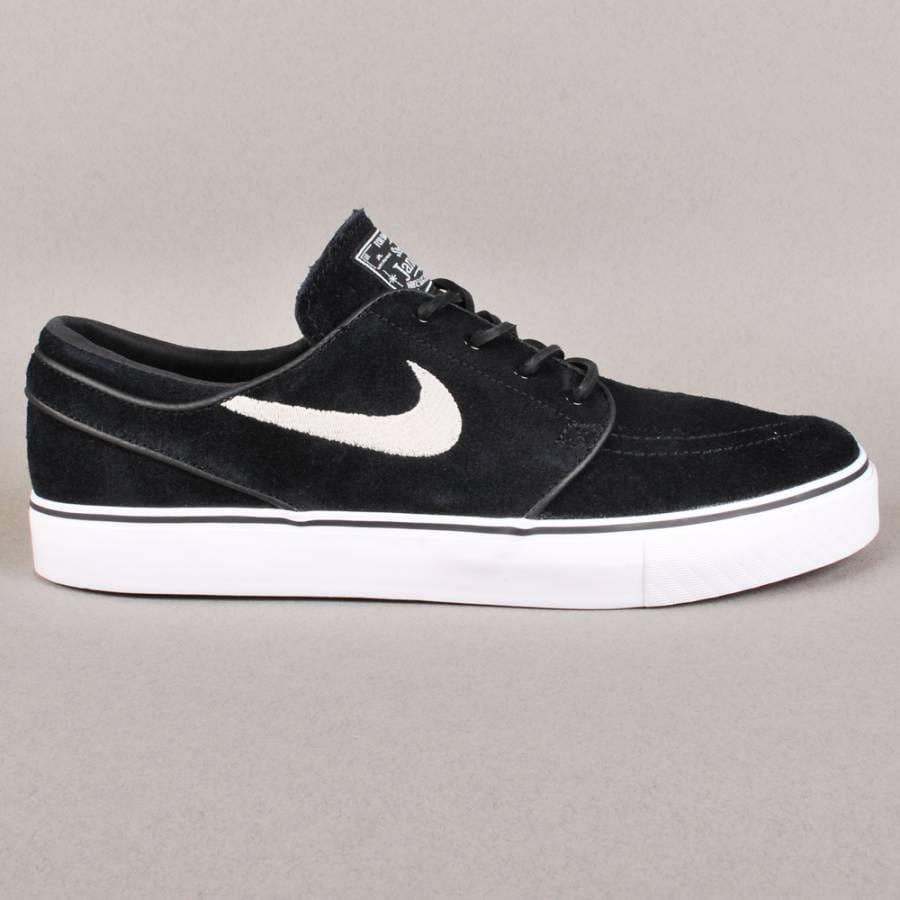 nike sb nike sb zoom stefan janoski skate shoes black. Black Bedroom Furniture Sets. Home Design Ideas