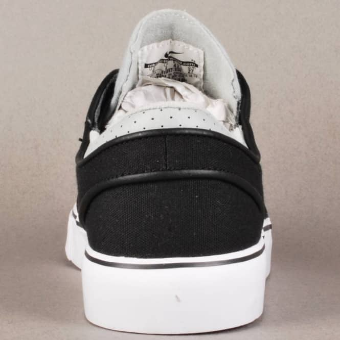 the best attitude ce81d a6225 Nike Zoom Stefan Janoski Canvas Skate Shoes - Base Grey Venom Green-Black