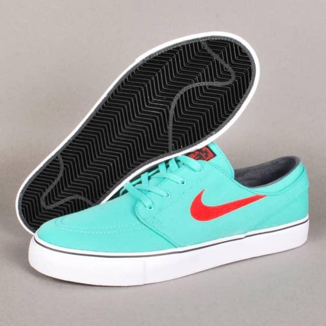 b5e4ebdf40fd Nike Zoom Stefan Janoski Canvas Skate Shoes - Crystal Mint Light Crimson -Black