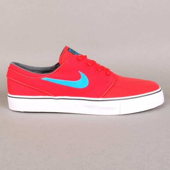 Nike SB Nike Zoom Stefan Janoski Canvas Skate Shoes - Light Crimson/Vivid Blue-Black