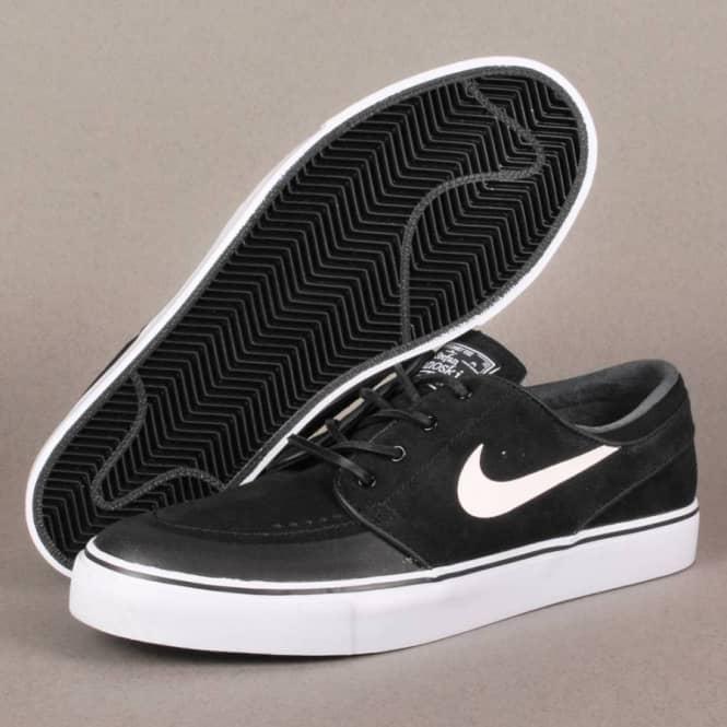 Nike SB Nike Zoom Stefan Janoski PR SE Skate Shoes - Black White-New ... bb109e68581c