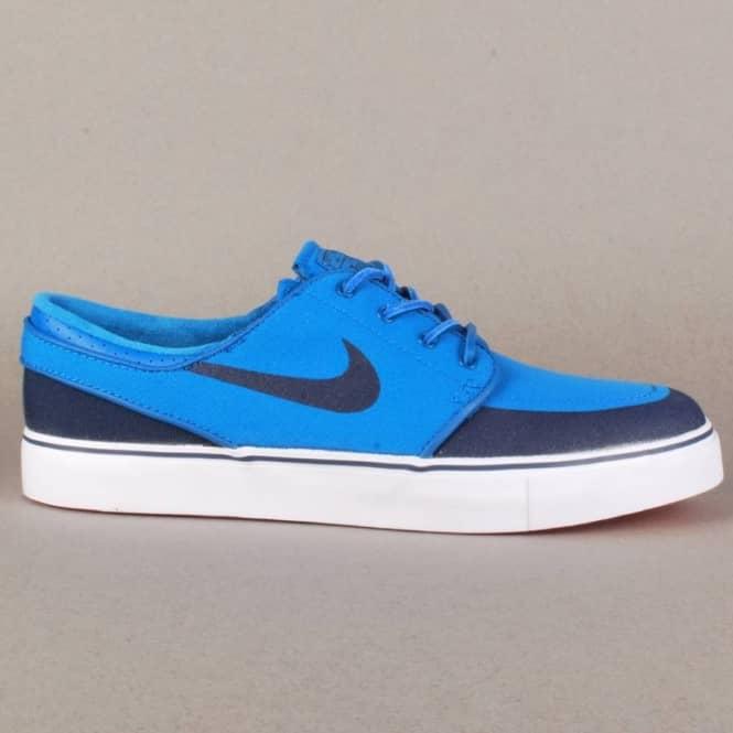 0c427d02bbf5 Nike Zoom Stefan Janoski PR SE Skate Shoes - Military Blue Obsidian-White