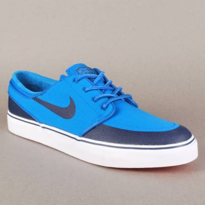 new product 32ab3 5cae0 Nike Zoom Stefan Janoski PR SE Skate Shoes - Military Blue Obsidian-White