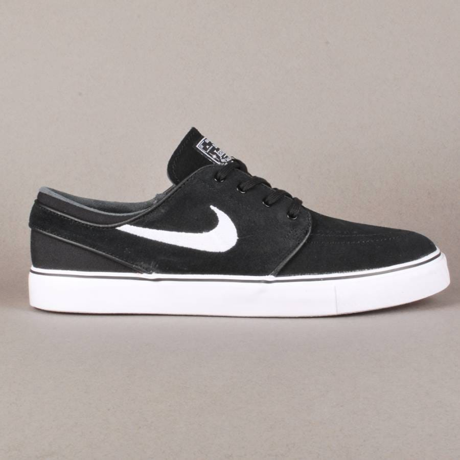 nike sb nike zoom stefan janoski skate shoes black white