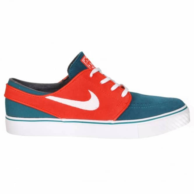 buy popular 76814 72eae Nike Zoom Stefan Janoski Skate Shoes - Dark Sea White - Team Orange