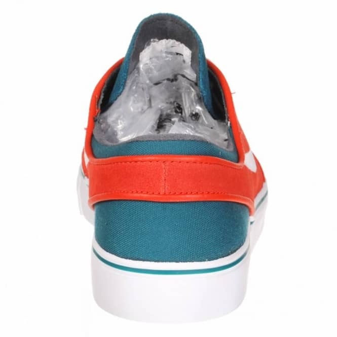 buy popular 8f387 f8c7c Nike Zoom Stefan Janoski Skate Shoes - Dark Sea White - Team Orange