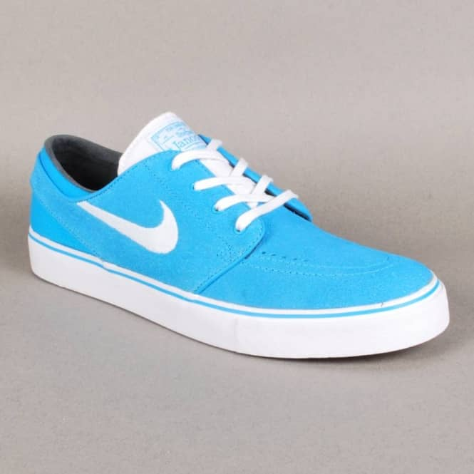 Nike SB Nike Zoom Stefan Janoski Skate Shoes - Vivid Blue White ... cd9dfac0d
