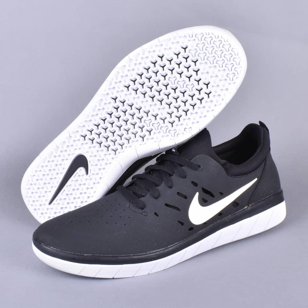 san francisco 1e64d 0ce69 nyjah huston nike sb signature shoe first look skate skateboarding  nyjah  free skate shoes black white