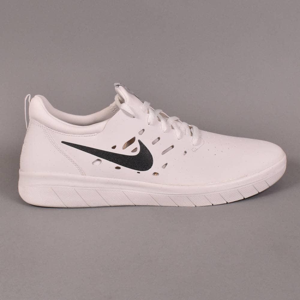 9130c03319986 Nike SB Nyjah Free Skate Shoes - Summit White Anthracite-Lemon Wash ...