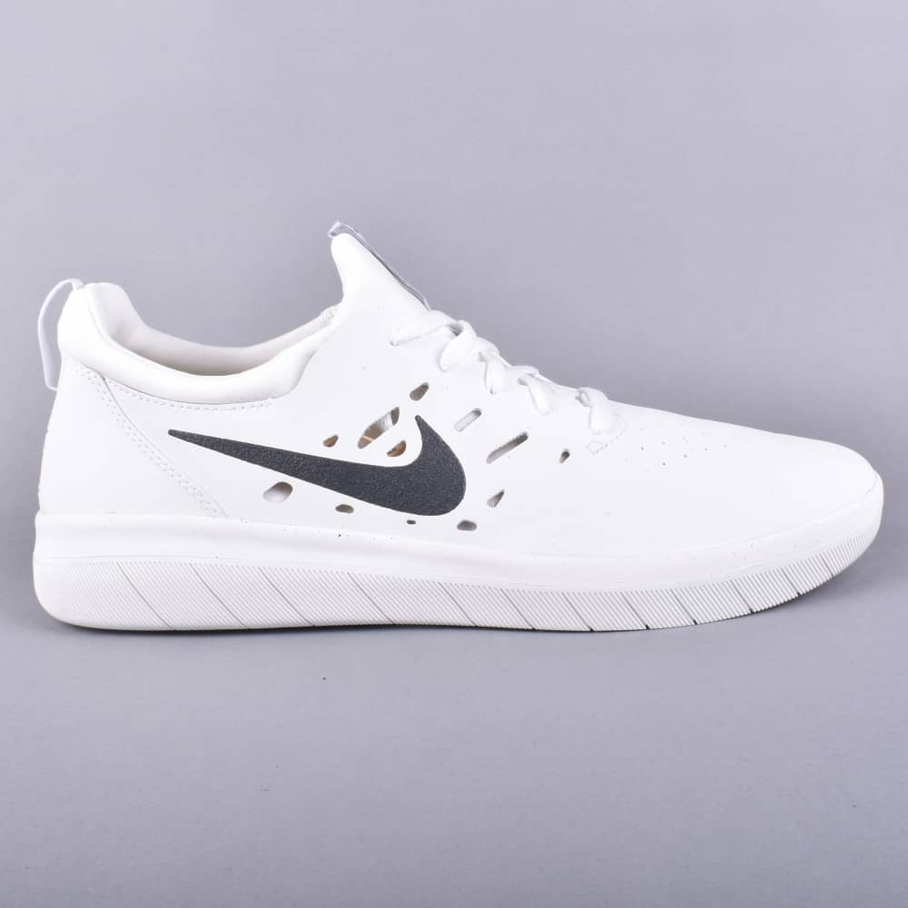 Nike SB Nyjah Free Skate Shoes - Summit White Anthracite - SKATE ... 239397fde