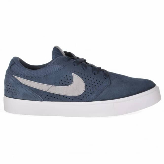 Nike SB Paul Rodriguez 5 LR White Matte Silver-Medium Denim Skate Shoes 76ede8256