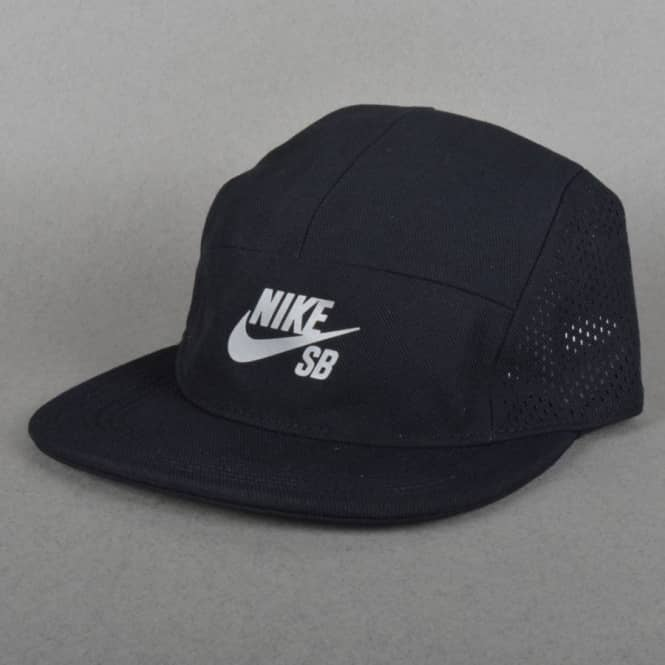 a45ea96858 Nike SB Performance Dri-Fit 5 Panel Cap - Black Black Black - SKATE ...