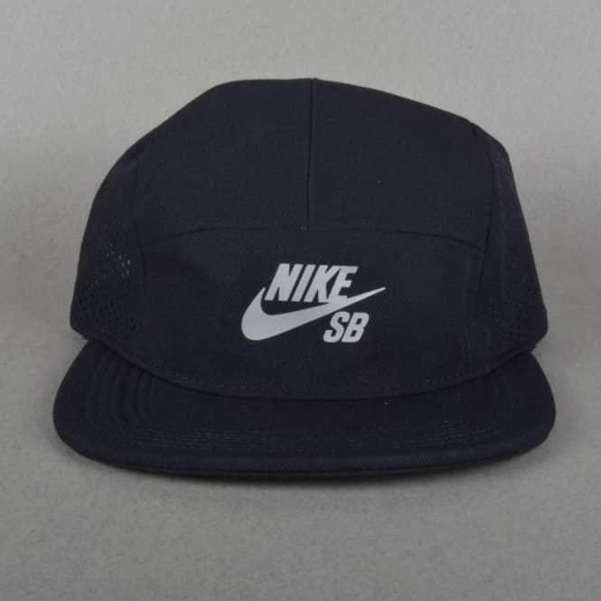 d4823c5b57b Nike SB Performance Dri-Fit 5 Panel Cap - Black Black Black - SKATE ...