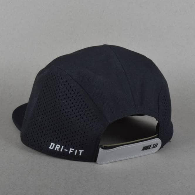 Nike SB Performance Dri-Fit 5 Panel Cap - Black Black Black - SKATE ... 648300e37eb9