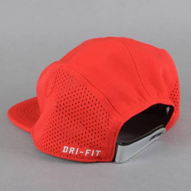 2e38368470544 Nike SB Performance Dri-Fit 5 Panel Cap - Red - SKATE CLOTHING from ...