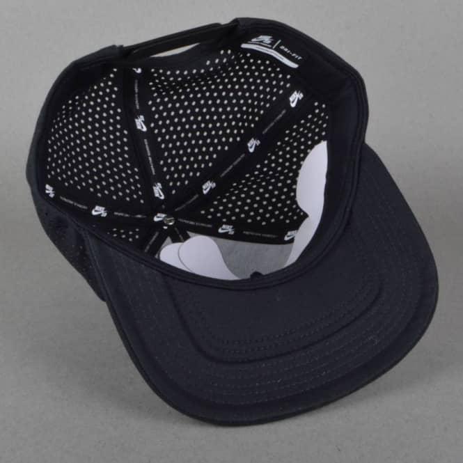 Nike SB Performance Dri-Fit Snapback Cap - Black Black Black White ... 6943c1589a1