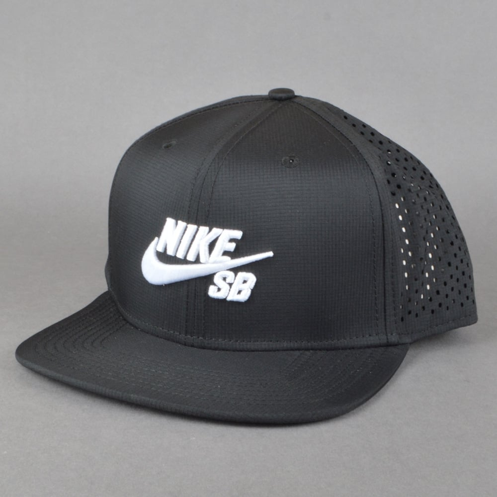 08b1f90d1b35 Nike SB Performance Trucker Cap - Black Black Black White - SKATE ...