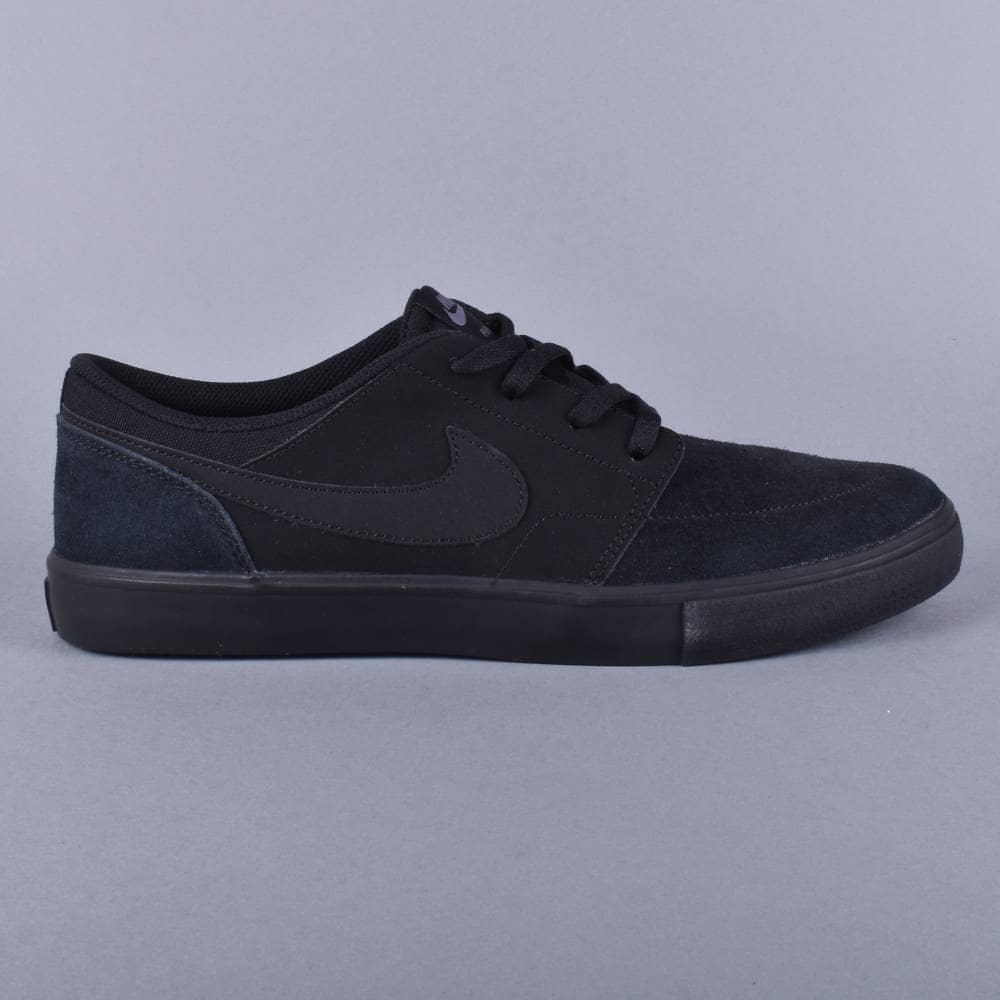 1613cc0f029 Nike SB Portmore 2 Solar Skate Shoes - Black Black - SKATE SHOES ...