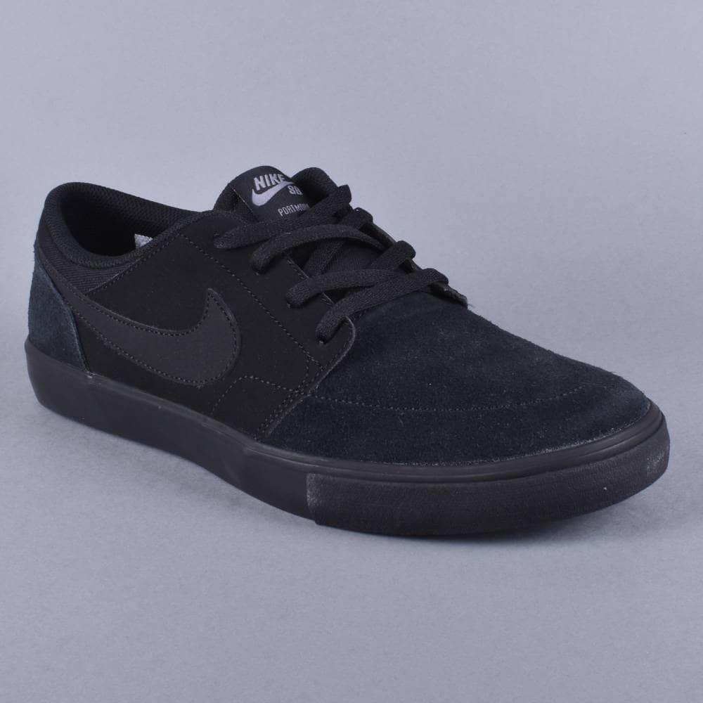 5a5cfb5e89bf Nike SB Portmore 2 Solar Skate Shoes - Black Black - SKATE SHOES ...