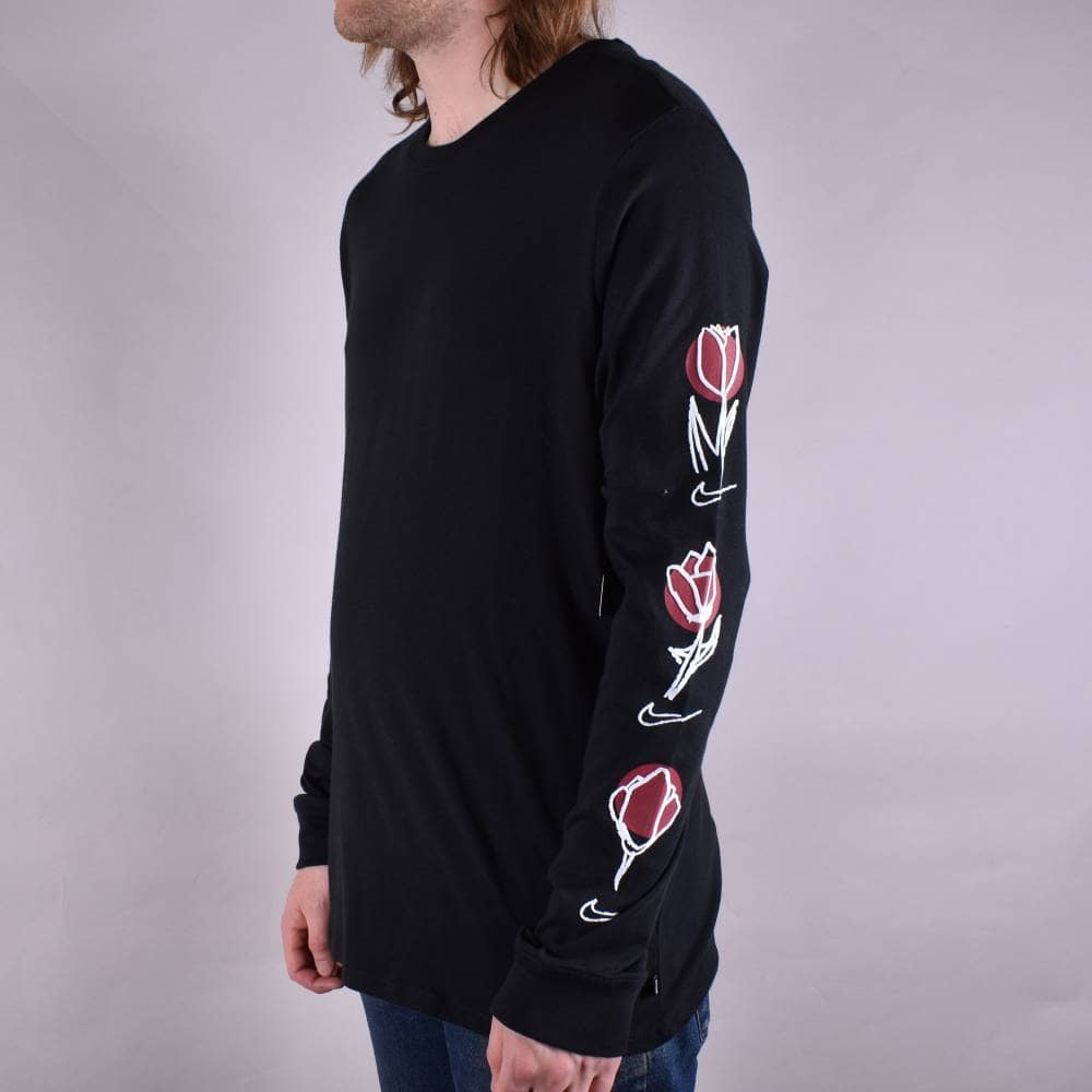 ea873ad6d Nike SB Rose Longsleeve T-Shirt - Black/White - SKATE CLOTHING from ...