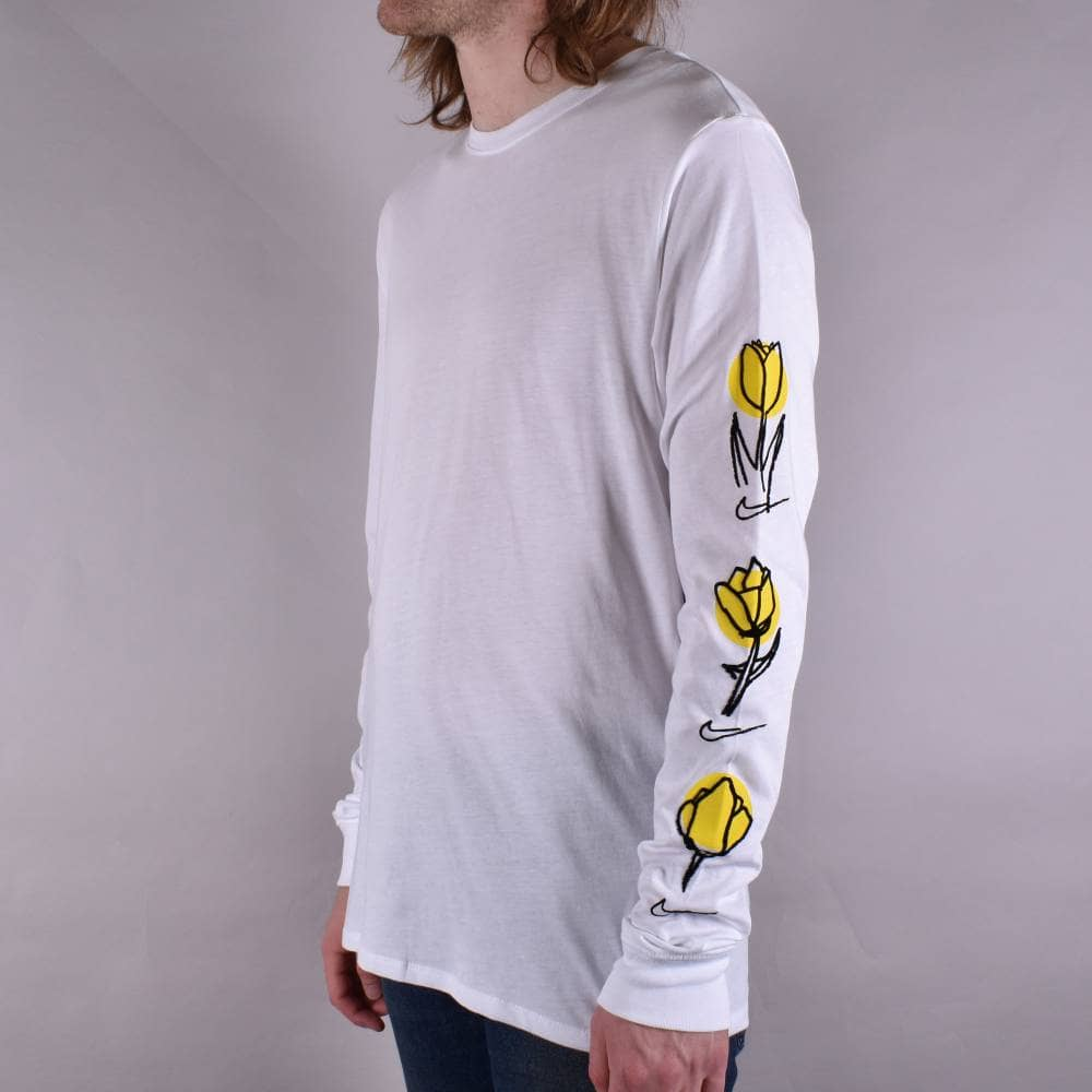 d10089300e71 Nike SB Rose Longsleeve T-Shirt - White Black - SKATE CLOTHING from ...