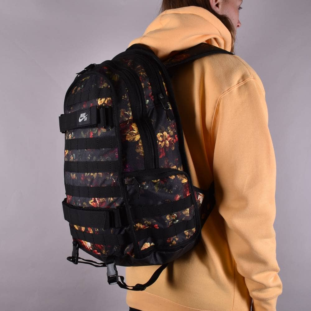 super popular d3ebe 2355a RPM Floral Graphic Backpack - Black Black Black