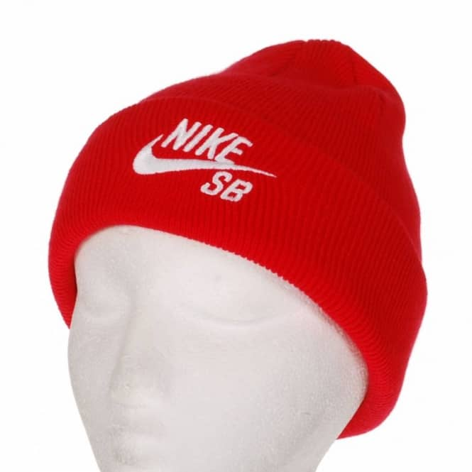 Nike SB SB Beanie Team Red White - Beanies from Native Skate Store UK 04e107ed51d