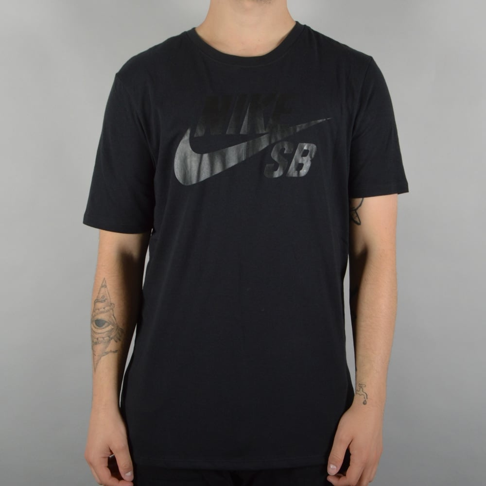 0bc84f56b96d Nike SB SB Logo Skate T-Shirt - Black Black - SKATE CLOTHING from ...