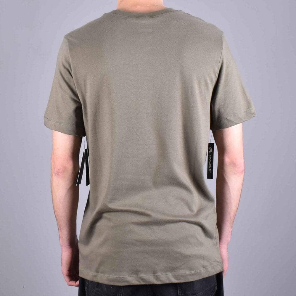 new product 2ae2e 831d1 SB Logo Skate T-Shirt - Medium Olive White