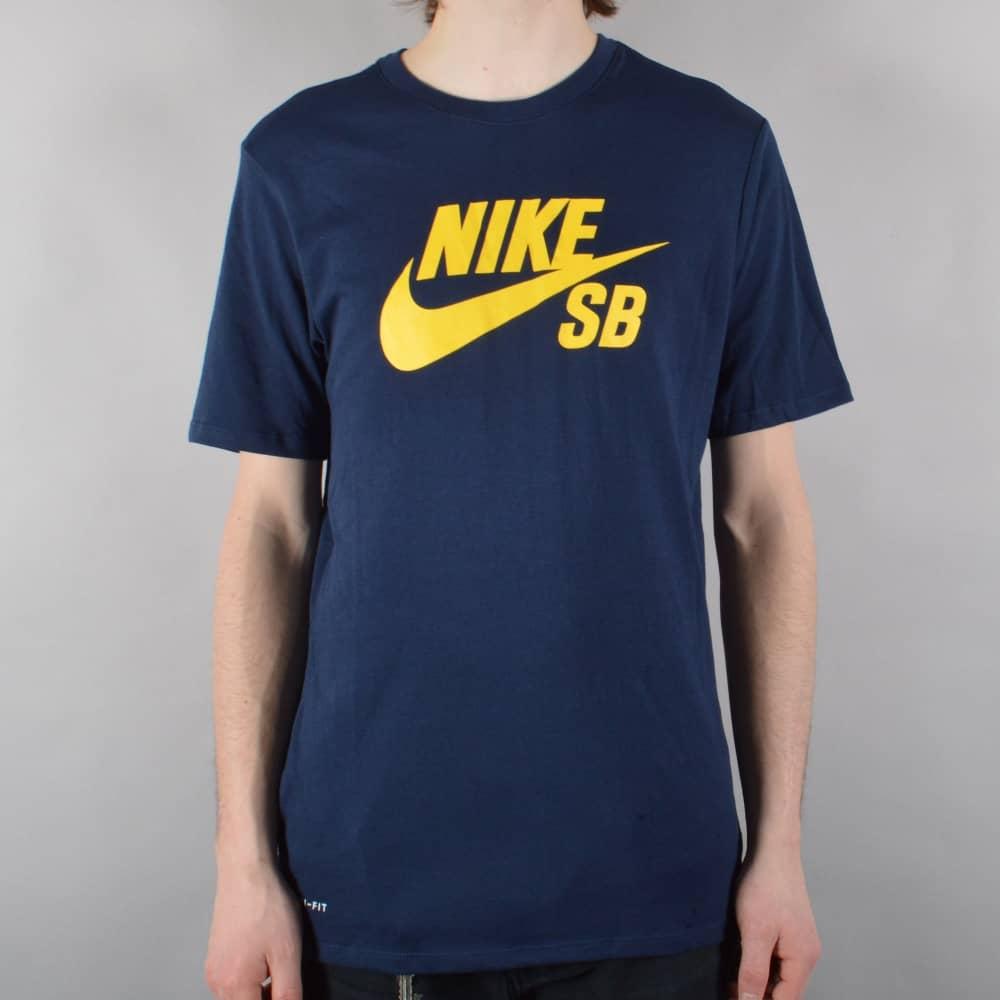 4e71fc985014 Nike SB SB Logo Skate T-Shirt - Obsidian Tour Yellow - SKATE ...