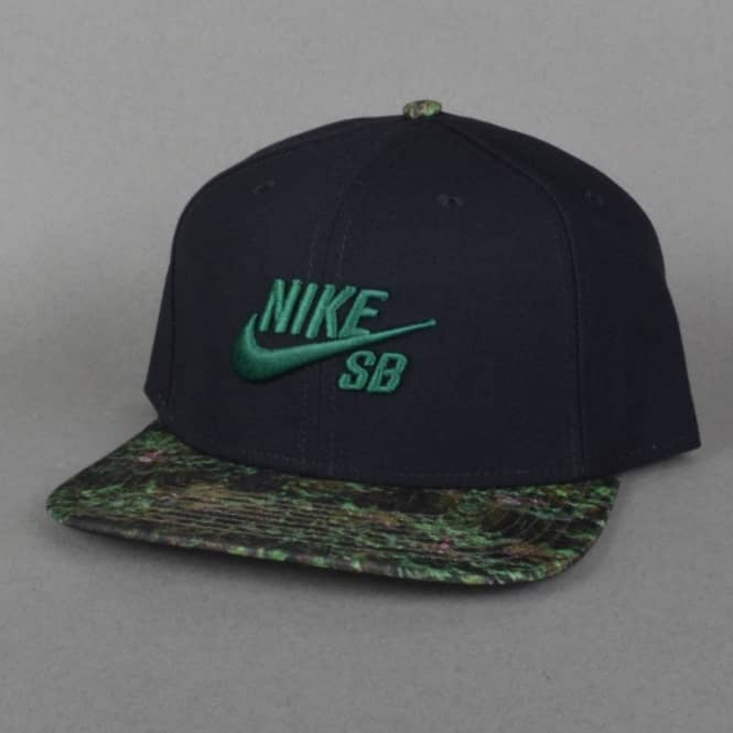 Nike SB Seasonal Snapback Cap - Black Black Green - SKATE CLOTHING ... f7fc136ab7ea