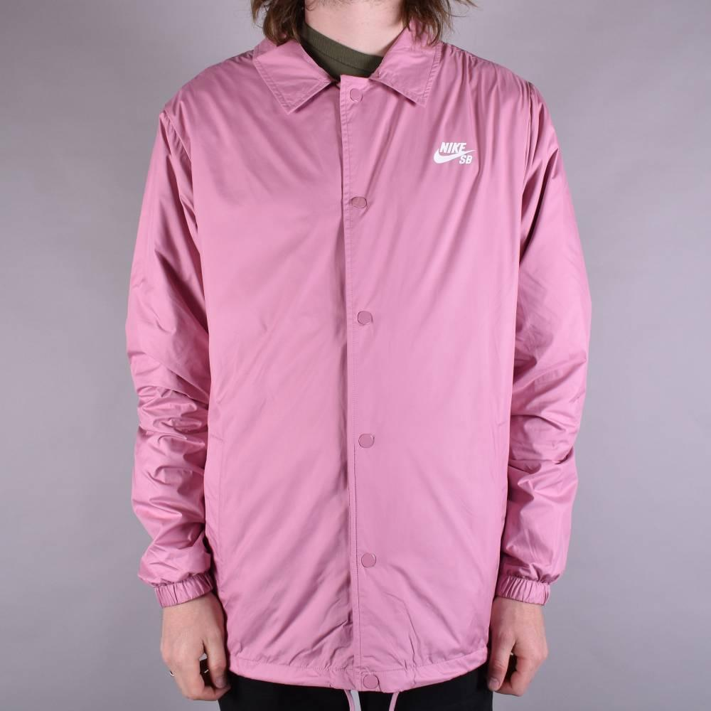 cafb952fc21c Nike SB Shield Coach Jacket - Elemental Pink White - SKATE CLOTHING ...
