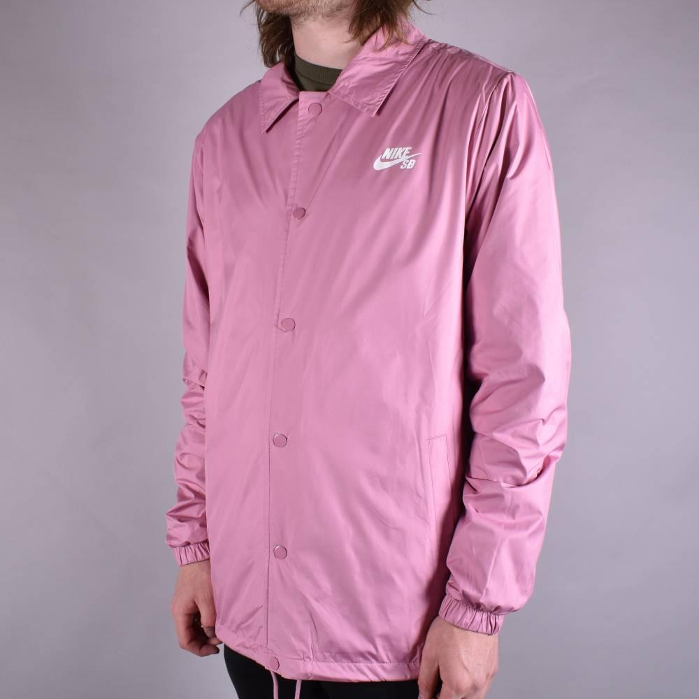 66fb66b81659 Nike SB Shield Coach Jacket - Elemental Pink White - SKATE CLOTHING ...