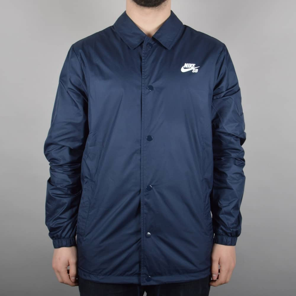 Nike SB Shield Coaches Jacket - Obsidian White - SKATE CLOTHING from ... ebf58697f