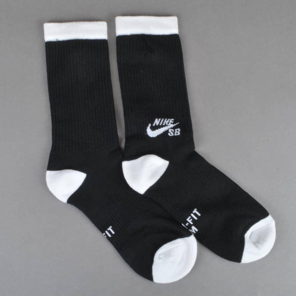 5994be25c200 Nike SB Skateboarding Crew Socks - Black White 3 Pack - ACCESSORIES ...