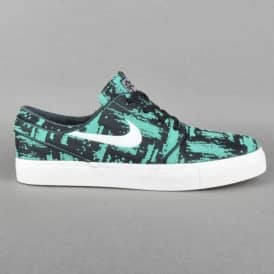 Stefan Janoski EXP Premium Skate Shoes - Crystal Mint/Ivory-Black