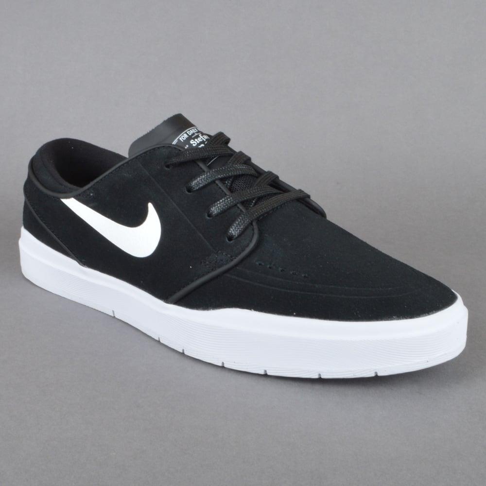Stefan Janoski Hyperfeel Skate Shoes - Black/White