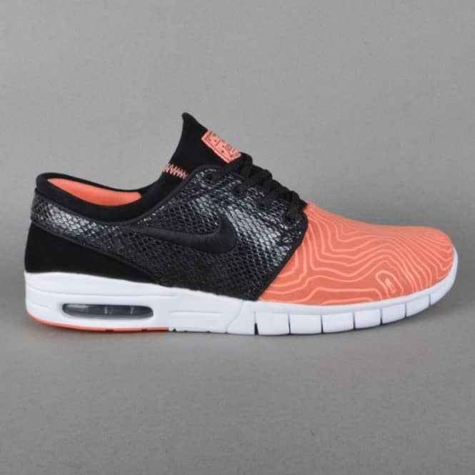 official photos 52589 542f6 Stefan Janoski Max L Skate Shoes - Atomic Pink Black-Arctic Orange-White