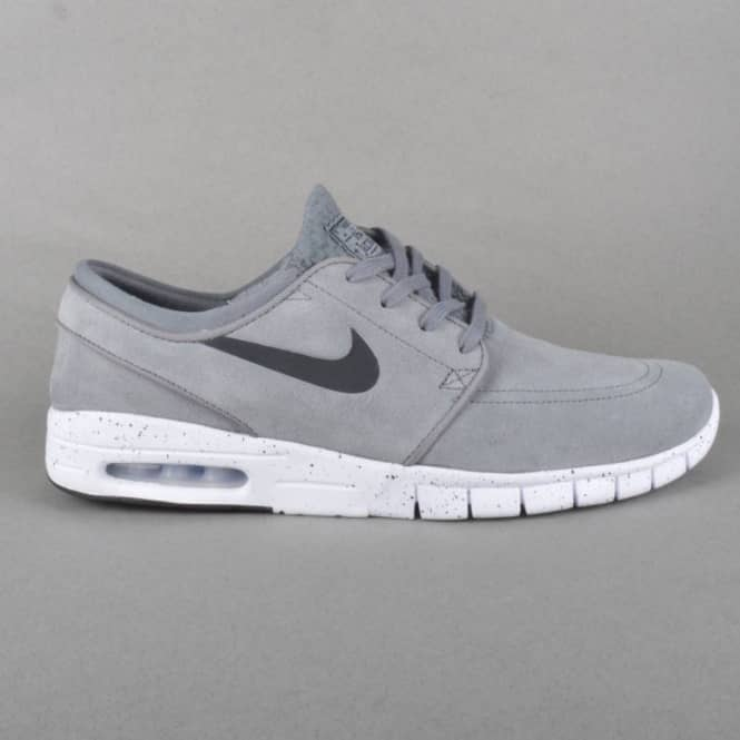 23318e88a4c9a6 Nike SB Stefan Janoski Max L Skate Shoes - Cool Grey Black-White ...